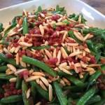 Pancetta Almond Green Beans