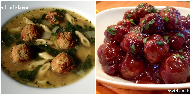 Italian Wedding Soup and Cranberry Meatballs