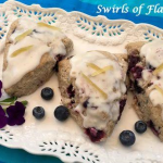Ginger Glazed Blueberry Scones