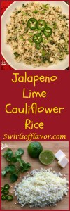 Jalapeno Lime Cauliflower Rice is bursting with the flavors of spicy jalapeno balanced with the freshness of chopped cilantro and lime juice! cauliflower   cauliflower rice   jalapeno   cilantro   gluten free   low carb   healthy