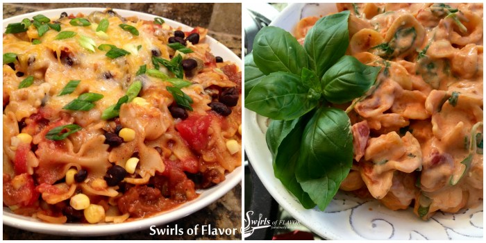 Two one pot pasta recipes