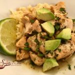 Instant Pot Cilantro Lime Chicken is a perfect weeknight dinner that's ready in just minutes on those busy days! Fresh cilantro and lime juice combine with chili powder and garlic for a kickin' good flavor combo! chicken | dinner | easy | cilantro | lime | avocado | #swirlsofflavor