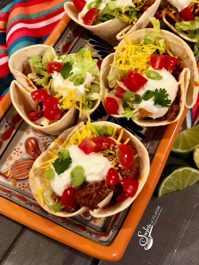 Beef Taco Cups - Swirls of Flavor