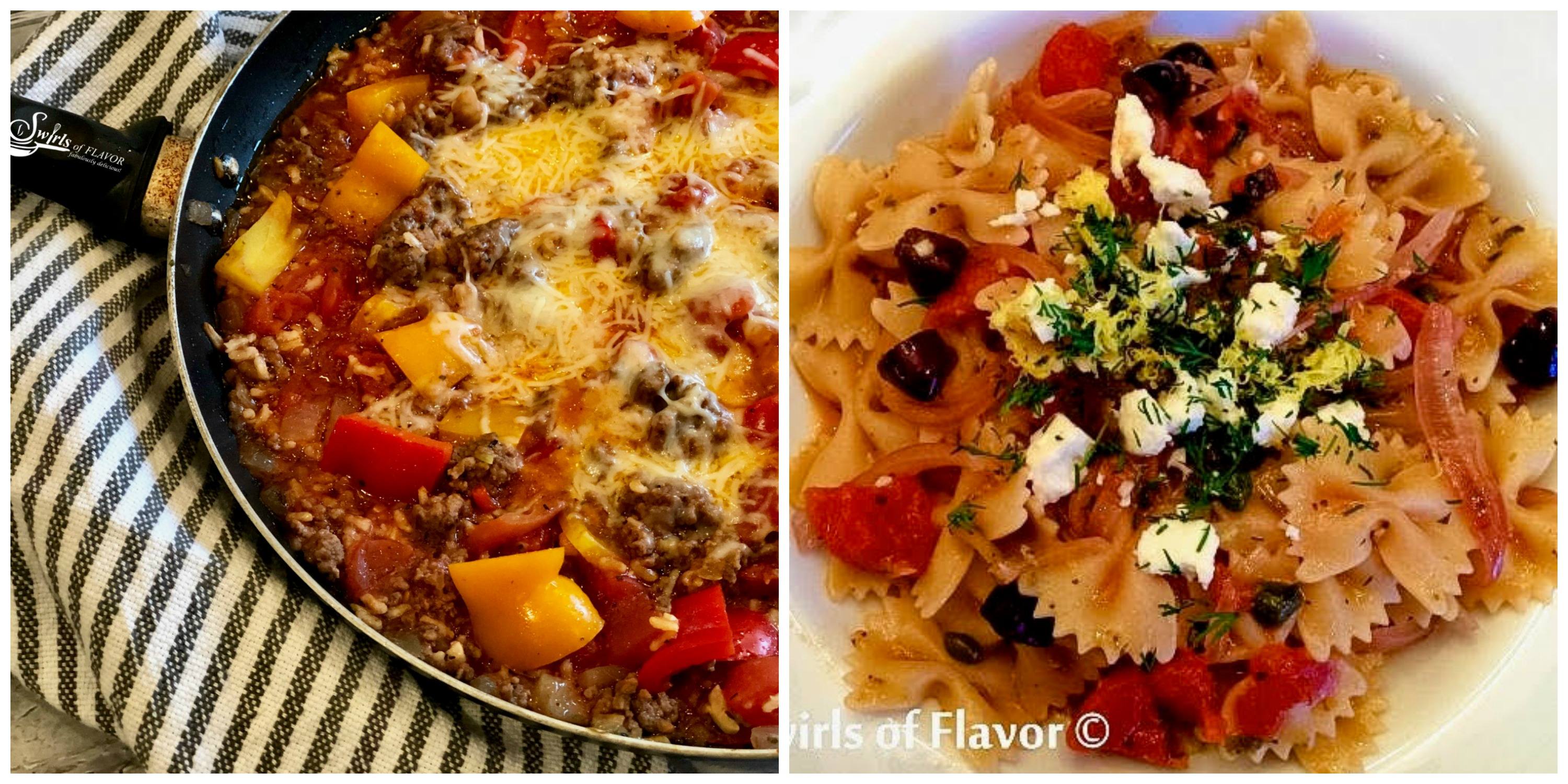 Unstuffed Peppers and Greek Pasta