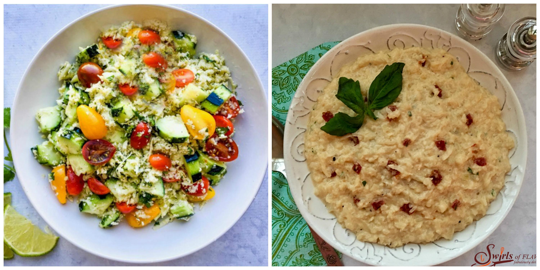 Cauliflower Rice Salad and Cauliflower Risotto