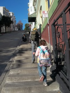 Starting steps to Coit Tower