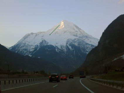 Bristen North Face (viewed from Gotthard Freeway)