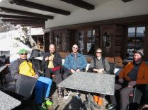 Enjoying a drink in Klosters