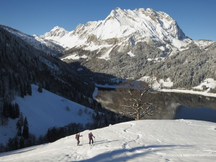 Ascent to Schiberg - The Fluebrig in the Back