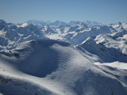 View towards Monte Rosa (on the left)