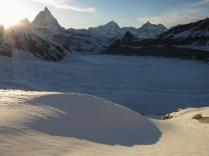 Looking back to Zermatt