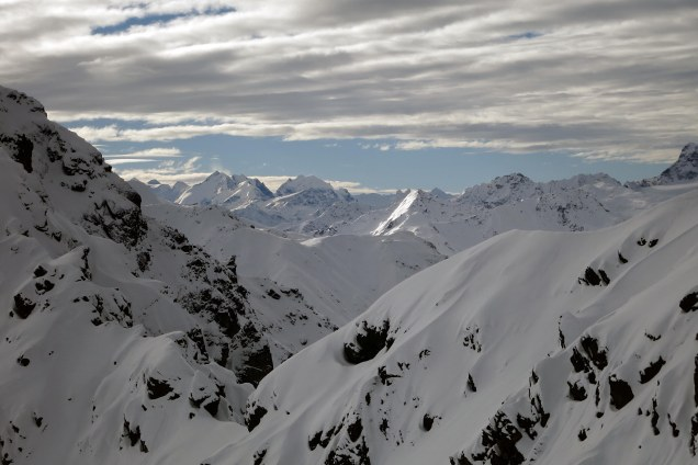 View of Bernina Mountains (Engadin)