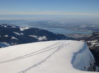iew of Lake Zurich - Here at 1950m many skiers stop and for not climb the rest