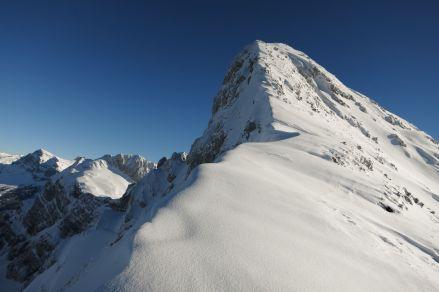 Schiberg ridge, seen from 1950m
