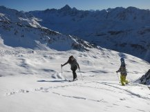 Heading up above Pischa Ski Area