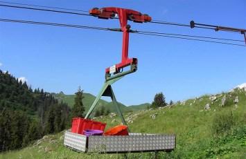Seilbahn für schnelle und wirtschaftliche Erschliessungen im hochalpinen Gelände