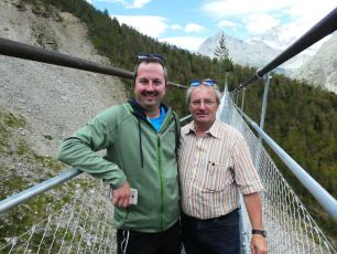 Gemeinderat Paul Summermatter und Theo Lauber