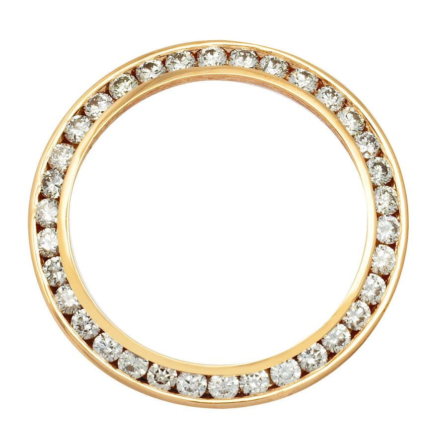 Ladies Gold Diamond Bezel