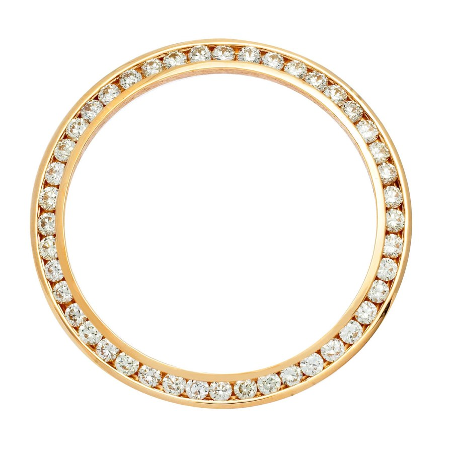 Mens Gold and Diamond Bezel
