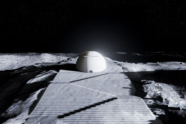 欧州宇宙機関が発表した、月に建設する寺院のデザインが神秘的