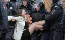 露全土で大規模な反政府デモ、82の都市で6万人が参加し多数の逮捕者が出る