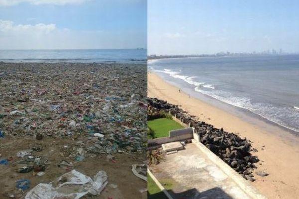 インドのビーチで行われた史上最大のクリーン作戦、見事に美しく生まれ変わる
