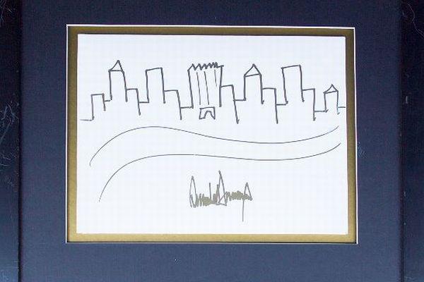 これが300万円!?トランプ大統領が描いた絵が高額で落札される
