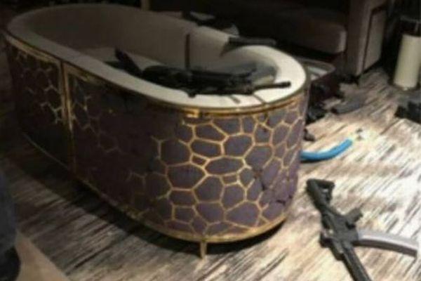 【ラスベガス銃乱射】犯人が自殺した直後の室内の写真がリーク、遺体の一部も