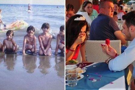 婚約者とは子供の時に会っていた?幼い頃の写真に偶然2人が写っていることが判明