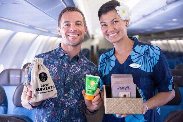 米の航空会社が、サンゴ礁に優しいサンスクリーンの無料サンプルを配布