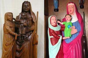 スペインで素人が15世紀の彫像を修復、超カラフルに塗られ関係者も唖然