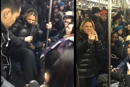 通勤時間帯の電車内で大暴れ&差別発言、「サブウェイ・スーザン」の動画が大拡散中