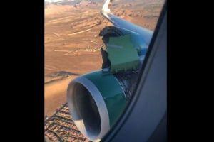 恐怖!カバーが外れ、エンジンがむき出しのまま飛行する動画が撮影される