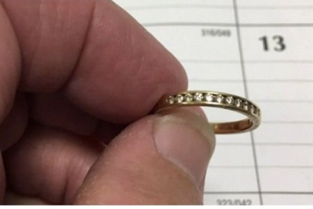 自宅のトイレに流してしまった指輪、奇跡的に9年の時を経て持ち主に戻る