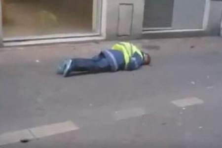 【黄色いベスト運動】デモ参加者が警察官にゴム弾で撃たれ、頭から流血する事態に