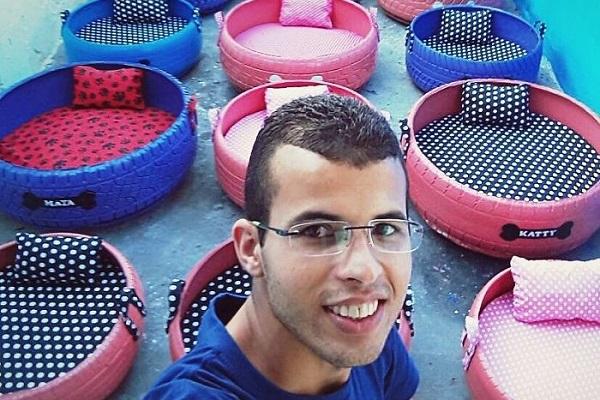 廃棄されたタイヤから動物専用のベッドを制作する、ブラジル人アーティストが話題に