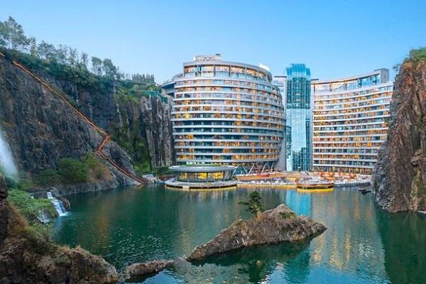 """上海に世界初の""""採石場ホテル""""が誕生、その内部はいかに?"""