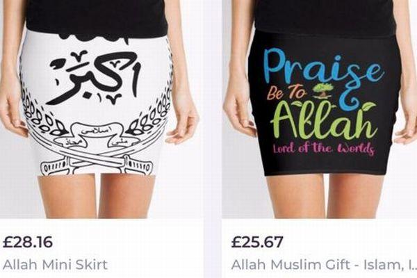 ファッションサイトが、イスラム教の神「アラー・ミニスカート」を販売し問題に