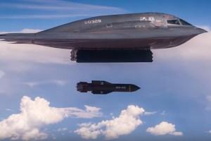 B2ステルス爆撃機から投下される地中貫通爆弾—米空軍がリリースした高画質動画が凄い