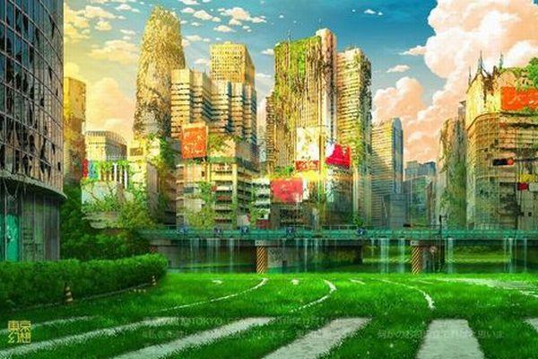 廃墟となった未来の東京を描く日本人アーティスト、その作品が海外でも話題に