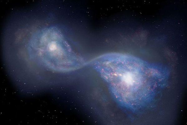 130億年以上も前に2つの銀河が合体、日本の研究チームが明らかに