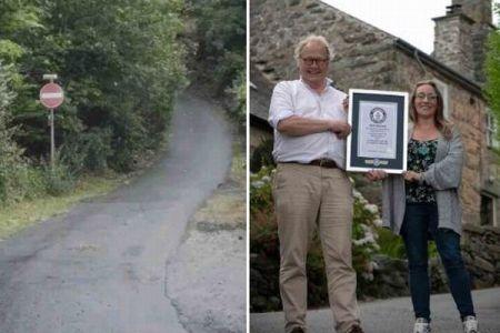 なんと勾配は37%以上!イギリスにある坂道が世界一急だとしてギネス記録更新