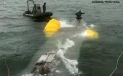 中南米で使われていた密輸用潜水艇、大西洋を越えスペインの沿岸で拿捕される
