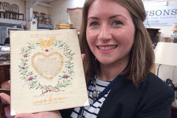 200年前に書かれたバレンタインデーの手紙がオークションへ、果たして恋の行方は?