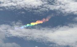 東京や神奈川上空で綺麗な虹色の雲、「環水平アーク」が出現、台湾でも目撃