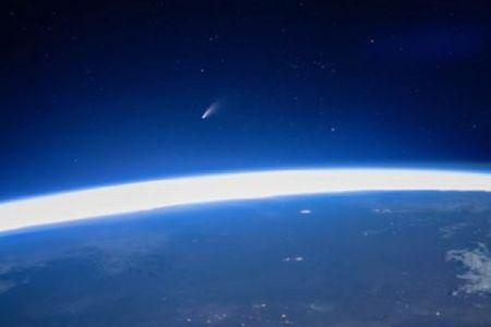 「ネオワイズ彗星」国際宇宙ステーションから撮影された映像が美しい