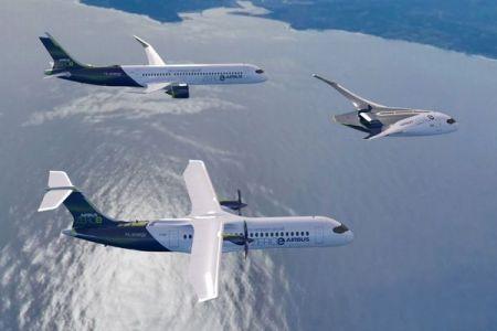 水素燃料を使い二酸化炭素を削減へ、エアバス社が未来の旅客機のモデルを発表