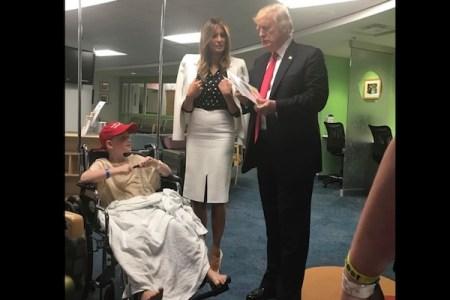 病気の子供を励ます本を出した闘病中の8才、見舞いに訪れたのはトランプ大統領だった