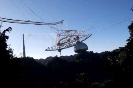 崩壊したプエルトリコの「アレシボ天文台」、事故が起きる瞬間の動画を公開