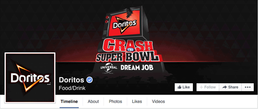 Facebook Page Doritos